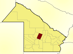 Location of Comandante Fernández Department in Chaco Province