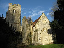Derelict church, Eastwell, near Ashford, Kent, England UK.jpg