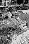 detail opgravingen in viering en noord transept gezien naar het noord noord-westen - grave - 20083943 - rce