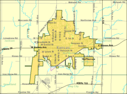 Detailed map of McPherson, Kansas