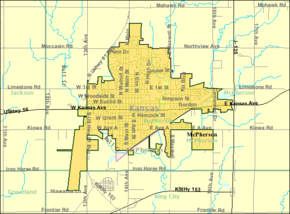 Detailed map of McPherson, Kansas.png