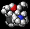 Dextro-Betamethadol molecule spacefill.png
