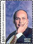 Dhirubhai Ambani 2002 stamp of India.jpg