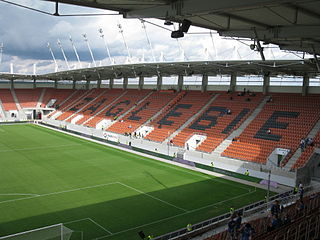 football stadium in Lubin, Lower Silesian Voivodeship, Poland