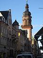 Die Hauptstraße Heidelberg mit dem Turm der Providenzkirche.JPG