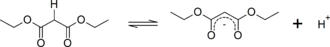 Methylene group - Acidity of Diethyl malonate, a 1,3-dicarbonyl compound