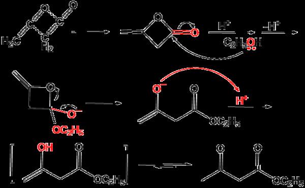Herstellung von Acetessigester aus Diketen