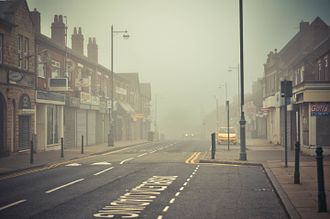 Dinnington, South Yorkshire - Dinnington, in the fog.