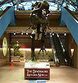 Dinosaur ad for the Carnegie Museums of Pittsburgh at Pittsburgh International Airport.JPG