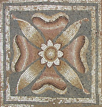 Archaeological Park of Dion - Mosaic at the thermal baths