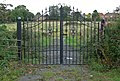 Disused gates at Ashby Road Cemetery - geograph.org.uk - 961706.jpg