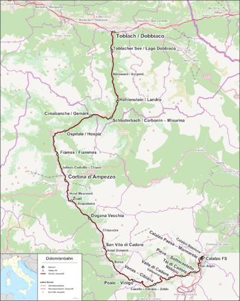 dolomites railway wikivisually