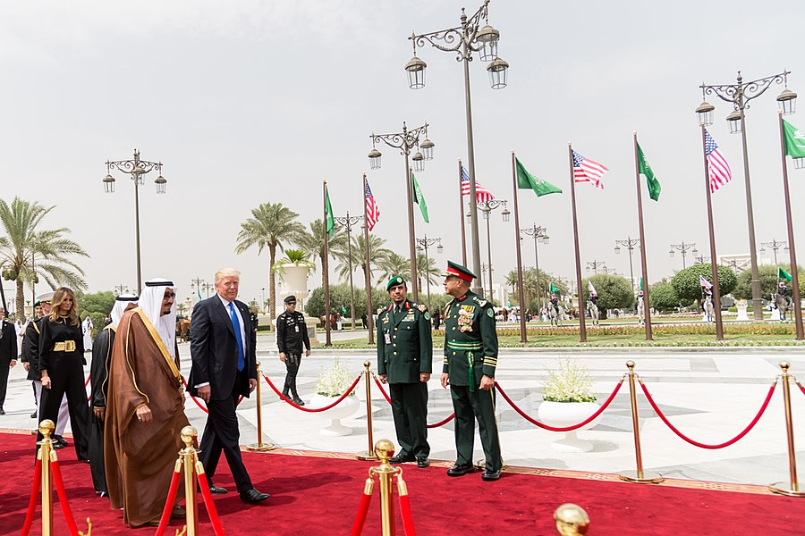 Donald Trump is escorted by King Salman bin Abdulaziz Al Saud, May 2017.jpg