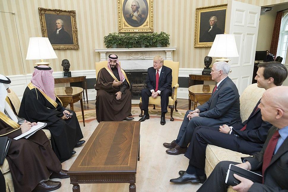 Donald Trump meets with Mohammed bin Salman bin Abdulaziz Al Saud, March 2017