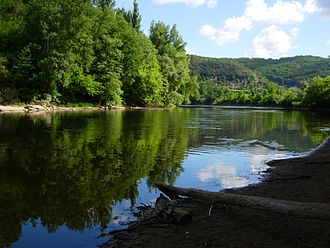 Dordogne (river) - The Dordogne in the Périgord