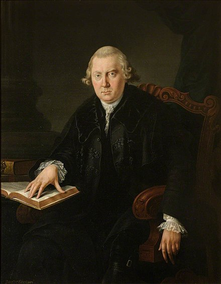 Portrait of Dr John Gregory, painted by George Chalmers.