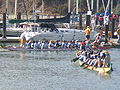 Dragon boats pulling out to race at 2008 SFIDBF 02.JPG
