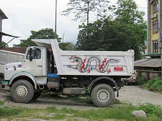 Transport in Bhutan - Dump truck in Bhutan