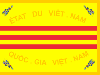 Vietnamese National Army - Flag of the Vietnamese National Army