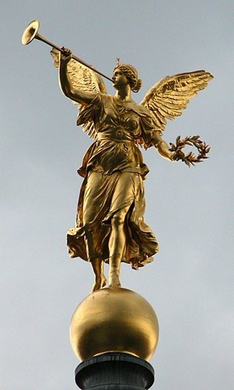 Dresden Academy of Fine Arts - Pheme or Fama on top of the dome of the main building