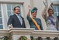 Drie leden van het koningklijk huis met Maxima prinsjesdag in Den Haag.jpg