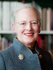 Queen Margrethe smiling