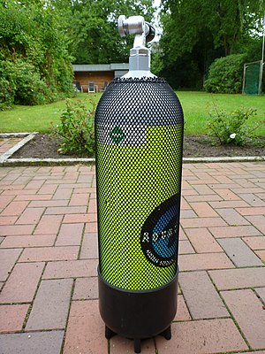 Aqua Lung/La Spirotechnique - Diving cylinder for 200 Bar with DIN cylinder valve from Aqua Lung