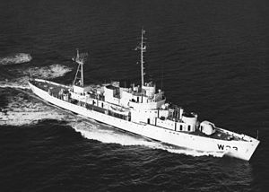 USCGC Duane underway in the early 1960s