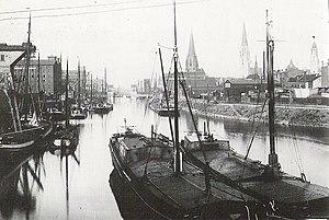 Duisburg Inner Harbour - Duisburg Inner Harbor around 1900