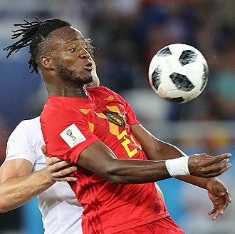 Michy Batshuayi - Batshuayi playing for Belgium at the 2018 FIFA World Cup
