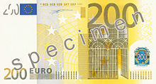 Deux cents euros, Face recto