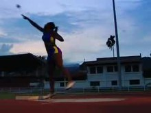 Demonstration of the spin technique in shot put