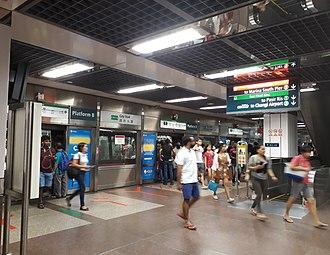 City Hall MRT station - Platform B, which is opposite platform A.
