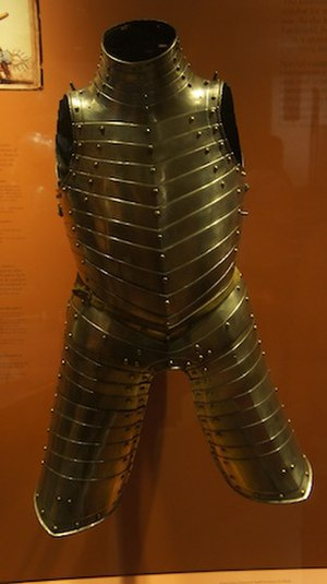 Earl of Pembroke's Armour - Front view of the armour