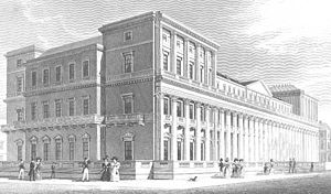 Carlton House Terrace - The East Terrace soon after completion, 1831