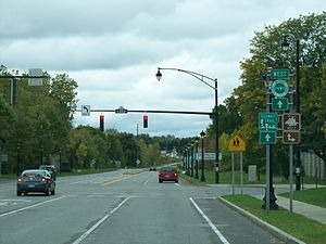 Lake Ontario State Parkway - Eastern terminus of the parkway at Lake Avenue in Rochester