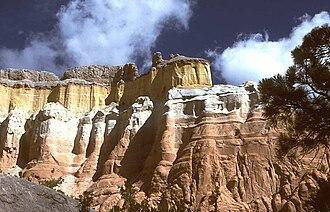 Echo Amphitheater - Sandstone cliffs near the Echo Amphitheater