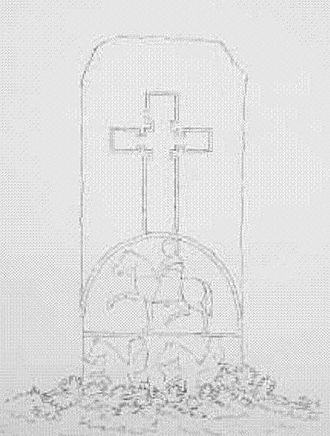 Edderton - One side of the Edderton cross slab, which lies in the old village church.