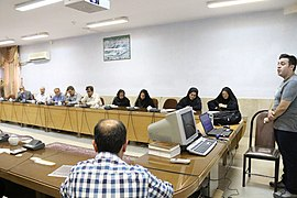 Education program of Wikimedia Iran in Islamic Azad University Miyaneh 2017 by IWUG (9).jpg