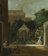 Le Jardin d'une maison à Amsterdam