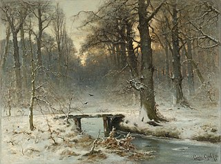 A January Evening in the Woods of The Hague