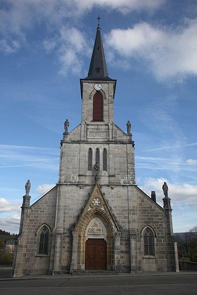Facade de l'église de Remoray.