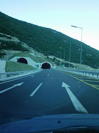 European route E90 - The E90 near Veria, Greece