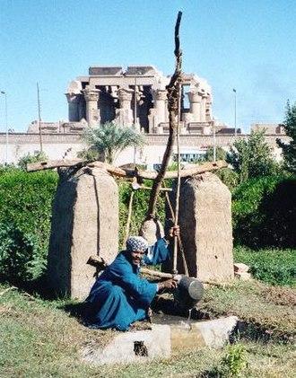 Shadoof - Shaduf in Kom Ombo, Egypt.