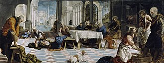Christ Washing the Disciples' Feet (Tintoretto) - Image: El Lavatorio (Tintoretto)