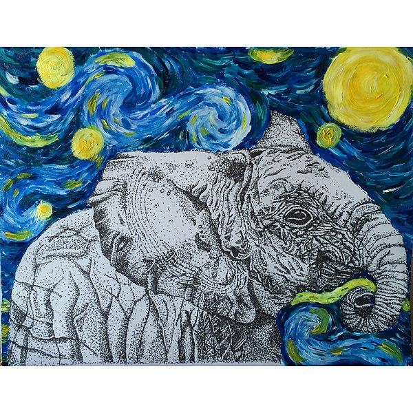 File:Elephant in Starry Night.jpg