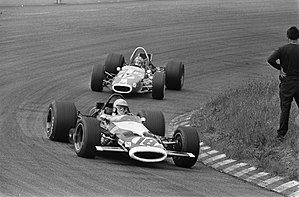 Colin Crabbe Racing - Elford's distinctive McLaren M7B at the 1969 Dutch Grand Prix