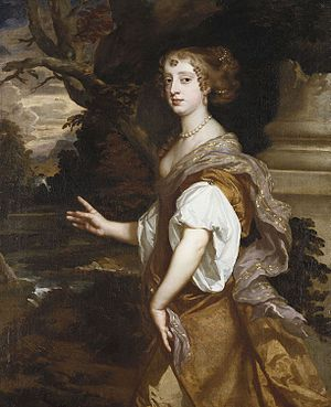 Elizabeth Percy, Countess of Northumberland - Elizabeth Wriothesley, portrait by Sir Peter Lely, for the Windsor Beauties series at Hampton Court