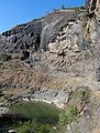 Ellora cave29 pond waterfall behind.jpg