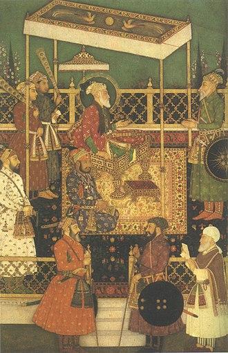 Bahadur Shah I - Emperor Awrangzib Receives Prince Mu'azzam.